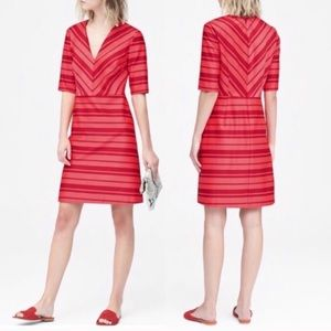Banana Republic NWT $128 Red Stripe V Neck Dress